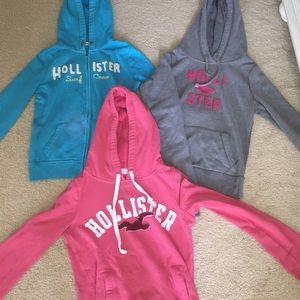 Bundle of 3 Hollister Sweatshirts